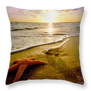 Two Friends On The Beach Throw Pillow