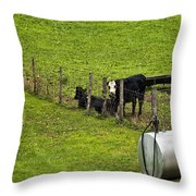 Two Gas Sources Throw Pillow