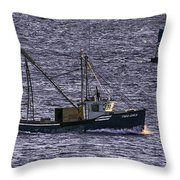 Two Girls And A Buoy Throw Pillow