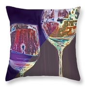 Two Glasses  Throw Pillow