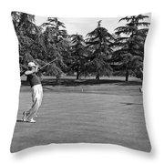 Two Golfers Body English Throw Pillow