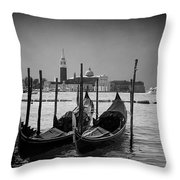 Two Gondolas Throw Pillow