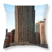 Two Hannover Square Throw Pillow