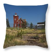 Two Harbors Mn Lighthouse 21 Throw Pillow