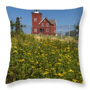 Two Harbors Mn Lighthouse 22 Throw Pillow
