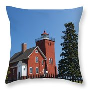 Two Harbors Mn Lighthouse 24 Throw Pillow