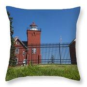 Two Harbors Mn Lighthouse 25 Throw Pillow