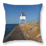 Two Harbors Mn Pier Light 10 Throw Pillow