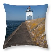 Two Harbors Mn Pier Light 11 Throw Pillow
