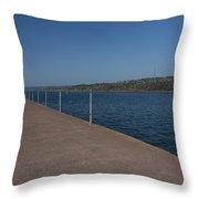 Two Harbors Mn Pier Light 12 Throw Pillow
