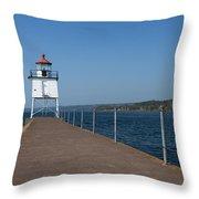 Two Harbors Mn Pier Light 13 Throw Pillow