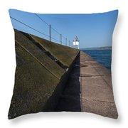 Two Harbors Mn Pier Light 15 Throw Pillow