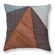 Two Harbors Mn Pier Light 6 Throw Pillow