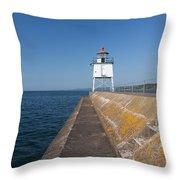 Two Harbors Mn Pier Light 8 Throw Pillow