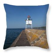 Two Harbors Mn Pier Light 9 Throw Pillow