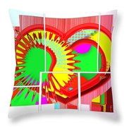 Two Hearts Are Better Than One Throw Pillow