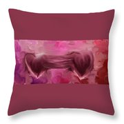 Two Hearts Beat As One Throw Pillow