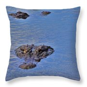Two Hunting Throw Pillow