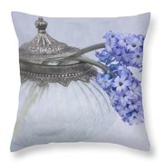 Two Hyacinth Flowers Throw Pillow