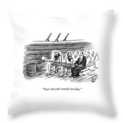 Two Imprisoned Rowers In A Ship Sit Next Throw Pillow