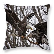 Two In A Bush Throw Pillow