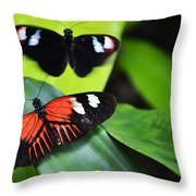 Two In The Leaves Throw Pillow