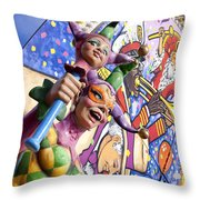 Two Jesters Throw Pillow by Caitlyn  Grasso