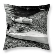 Two Kayaks On Seneca Lake Throw Pillow