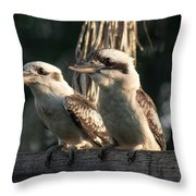 two Kookaburra Throw Pillow