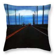 Two-lane Blacktop Throw Pillow