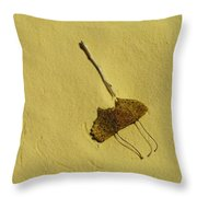 Two Leaves And One Stick At White Sands Throw Pillow