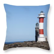 Two Light Houses Throw Pillow