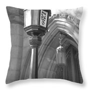 Two Lights And A Church Throw Pillow