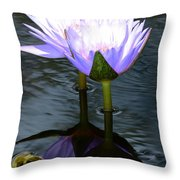 Two Lilies And A Heart Throw Pillow
