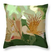 Two Lilies Cutout Throw Pillow