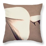 Two Lilies In Sepia Throw Pillow