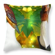Two Lovely Birds Throw Pillow