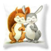 Two Lovely Friends Throw Pillow
