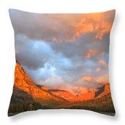 Sinopah Mountain And Two Medicine Lake Sunrise Glacier National Park Montana Throw Pillow