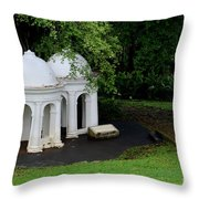 Two Meditating Cupolas In Fort Canning Park Singapore Throw Pillow