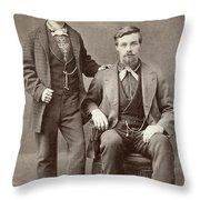 Two Men, 19th Century Throw Pillow