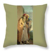 Two Men In Oriental Costume Throw Pillow