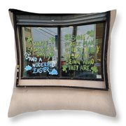 Two Messages Throw Pillow