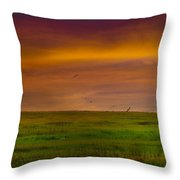 Two Mile Landing Colorful Sky Throw Pillow