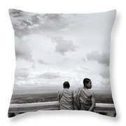 Two Monks Throw Pillow