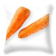 Two Nice Carrots Throw Pillow
