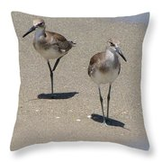 Two Of A Feather Throw Pillow