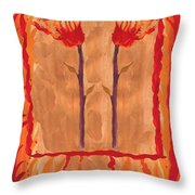 Two Of Wands Throw Pillow