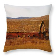 Two Old Barns Near Thorp  Wa Throw Pillow