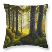 Two Old Spruce Throw Pillow